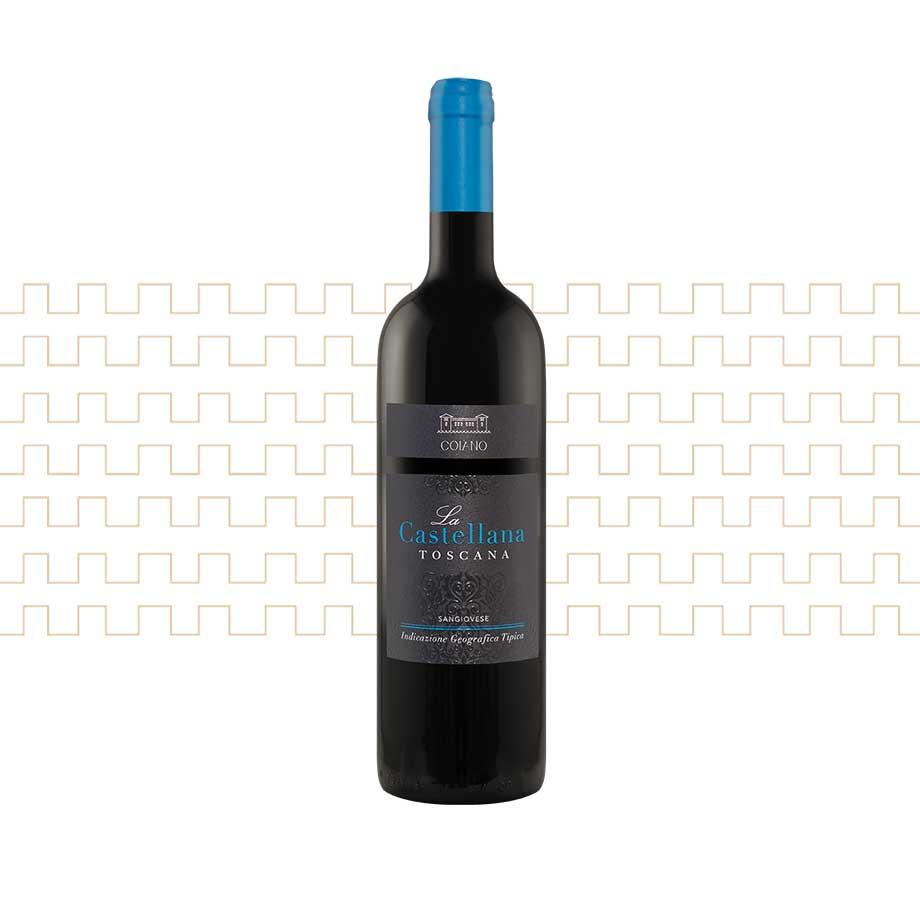 Vino rosso toscano La Castellana, Sangiovese selezionato